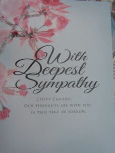 Sympathy Card In The November Car & Driver for Sorry For Your Loss Card Template