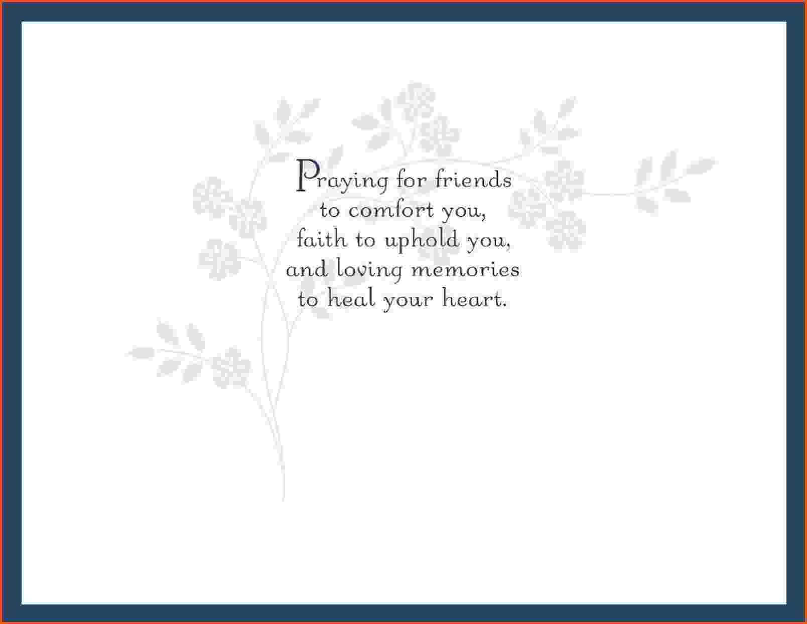Sympathy Card Template For Word In Sympathy Card Template
