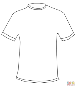 T Shirt Coloring Page | Free Printable Coloring Pages With Regard To Printable Blank Tshirt Template