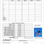 T Shirt Fundraiser Order Form Template   Besttemplates123 Pertaining To Blank T Shirt Order Form Template