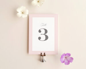 Table Number Cards Template, Rose Dots in Table Number Cards Template