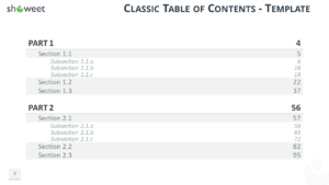 Table Of Content Templates For Powerpoint And Keynote In Microsoft Word Table Of Contents Template