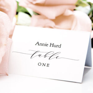 Table Place Cards Printable Pdf Template Flat & Folded with Place Card Setting Template