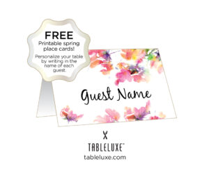 Tableluxe Printable Spring Place Cards intended for Free Place Card Templates Download
