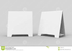 Tablet Tent Card Talkers Promotional Menu Card White Blank pertaining to Blank Tent Card Template