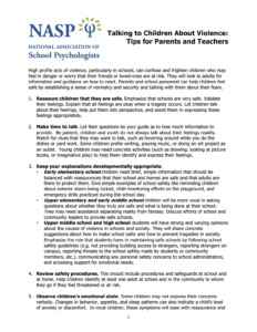 Talking To Children About Violence: Tips For Parents And intended for School Psychologist Report Template
