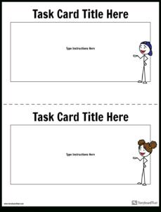 Task Card Template | Task Card Maker intended for Task Card Template