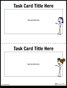 Task Card Template   Task Card Maker intended for Task Cards Template