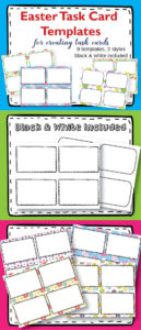 Task Card Templates Clipart, Easter Task Card Templates #tpt regarding Task Card Template