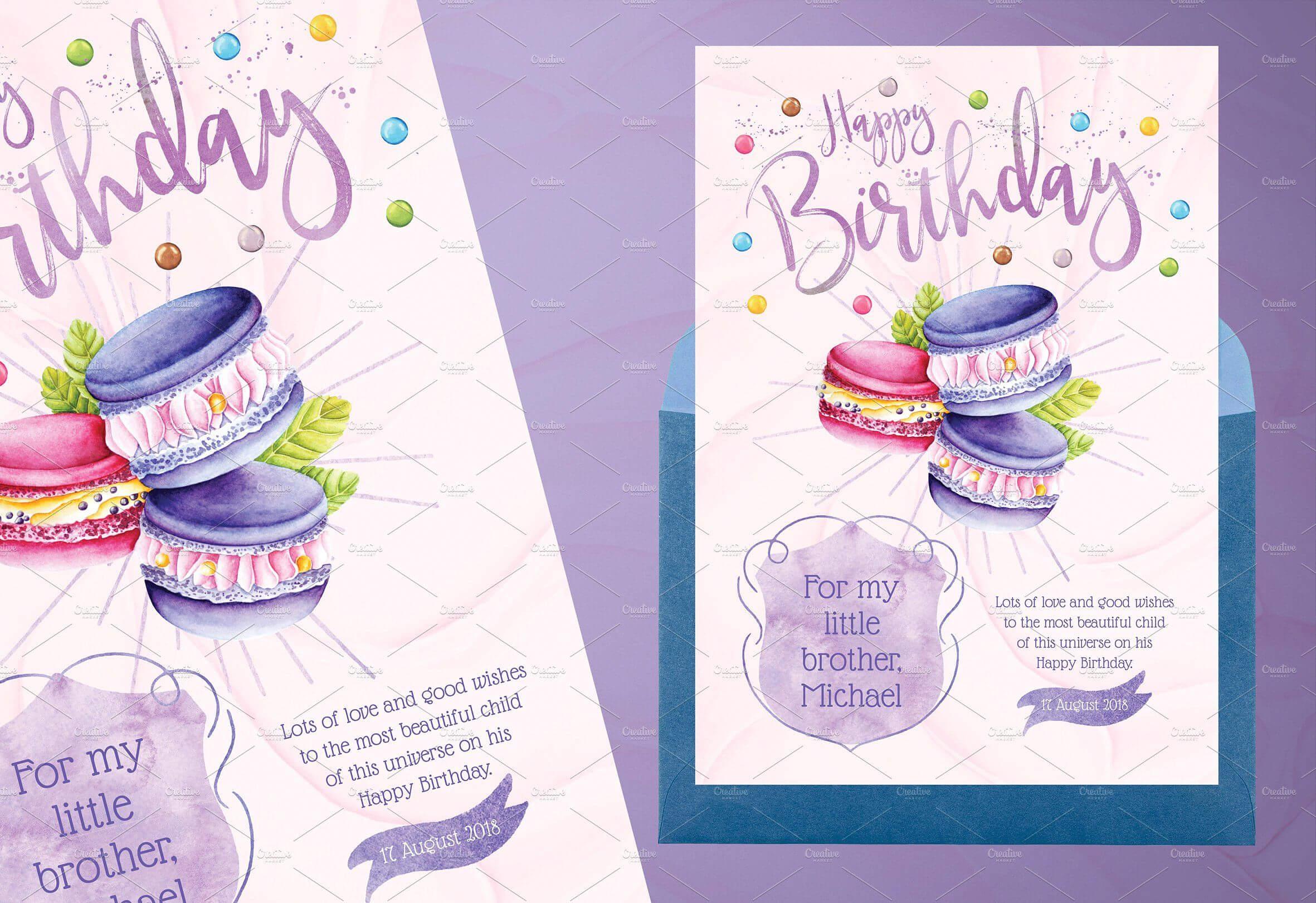 Tasty Birthday Cards For Kidsidesignarium On Pertaining To Birthday Card Collage Template