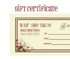 Tattoo Gift Certificate Template Free within Tattoo Gift Certificate Template