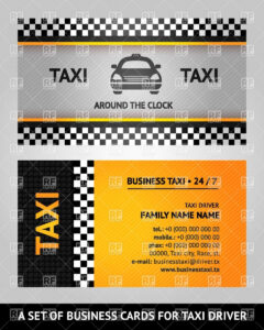Taxi Calling Card Template Stock Vector Image for Template For Calling Card