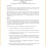 Technical Report Template Attending Technical Report With Template For Technical Report