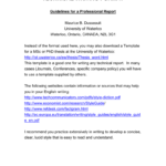 Technical Writing Format Within Template For Technical Report