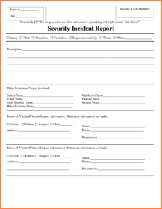 Technology Incident Report Template Templates Information pertaining to Template For Information Report