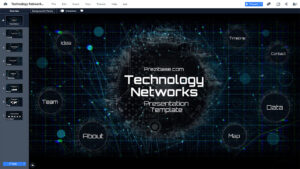 Technology Network Presentation Template | Prezibase With Powerpoint Templates For Technology Presentations