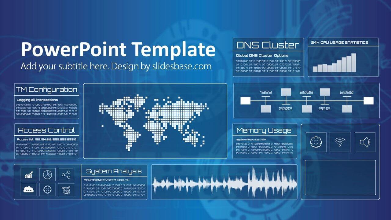 Technology Screen Powerpoint Template Pertaining To Powerpoint Templates For Technology Presentations