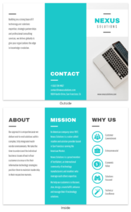 Technology Tri-Fold Brochure Template Template – Venngage regarding Technical Brochure Template