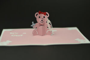 Teddy Bear Pop Up Card: Tutorial And Template – Creative Pop in Teddy Bear Pop Up Card Template Free