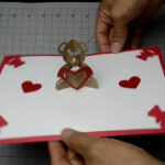 Teddy Bear Pop Up Card: Tutorial Intended For Teddy Bear Pop Up Card Template Free