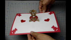 Teddy Bear Pop Up Card: Tutorial intended for Teddy Bear Pop Up Card Template Free