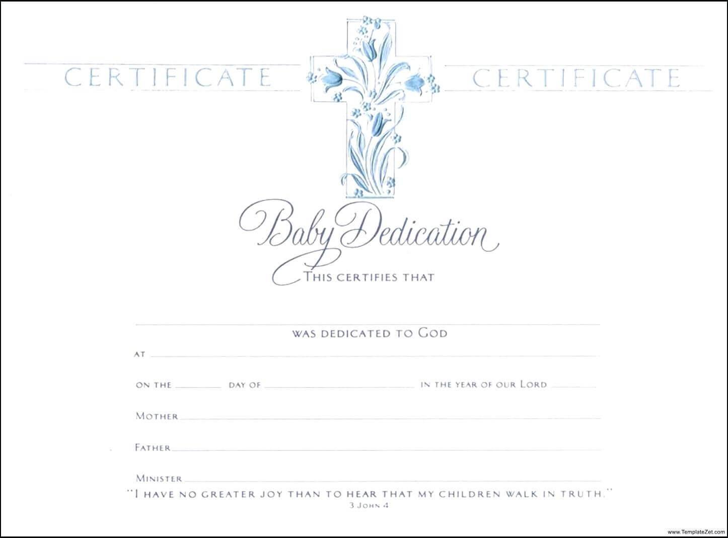 Template: Baptismal Certificate Template Baptism    Baby Inside Baby Christening Certificate Template