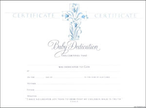 Template: Baptismal Certificate Template Baptism  | Baby pertaining to Baby Dedication Certificate Template