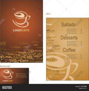 Template Designs Menu Vector & Photo (Free Trial)   Bigstock inside Coffee Business Card Template Free