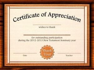 Template: Editable Certificate Of Appreciation Template Free in Graduation Certificate Template Word