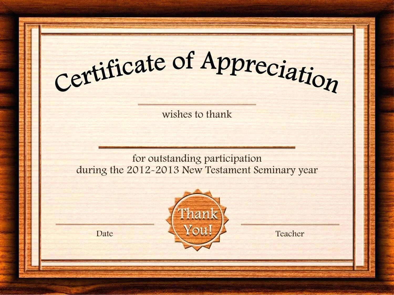 Template: Editable Certificate Of Appreciation Template Free Regarding Word 2013 Certificate Template