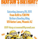 Template For A Dispicable Me Invitation Cards   Despicable Intended For Minion Card Template
