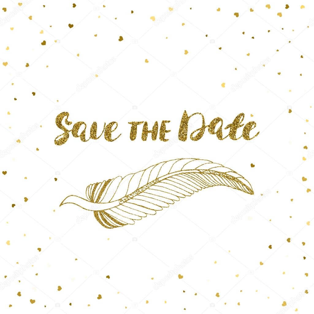 Template For Card, Banner, Flyer, Save The Date Invitation Pertaining To Save The Date Banner Template