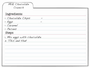 Template For Index Cards Unique 9 Index Card Templates For regarding Index Card Template For Word