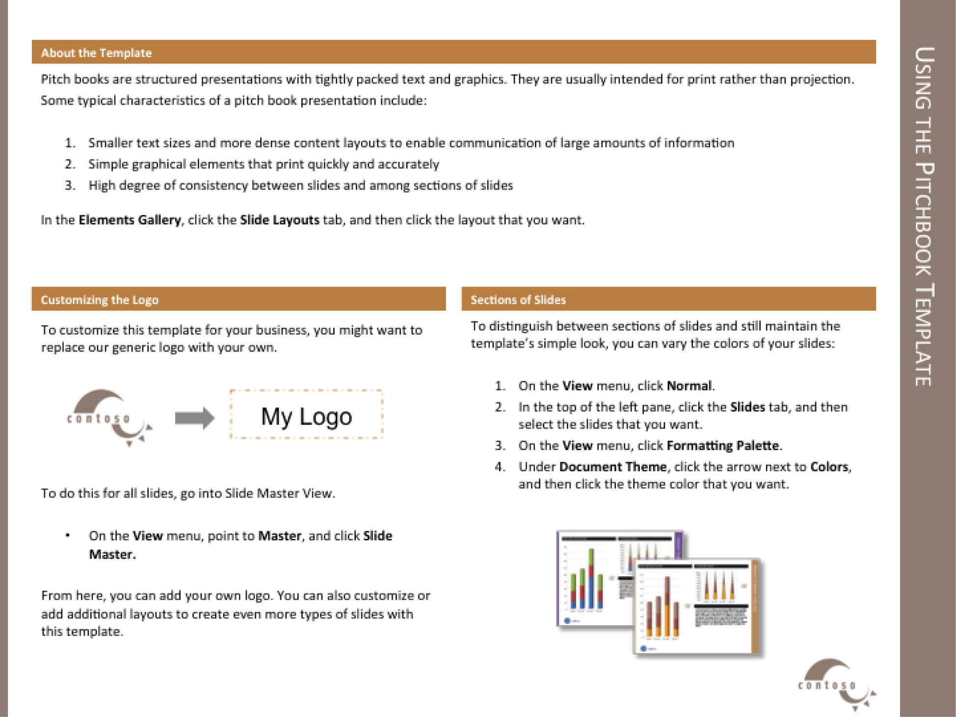 Template For The Report With Regard To Powerpoint Pitch Book Template