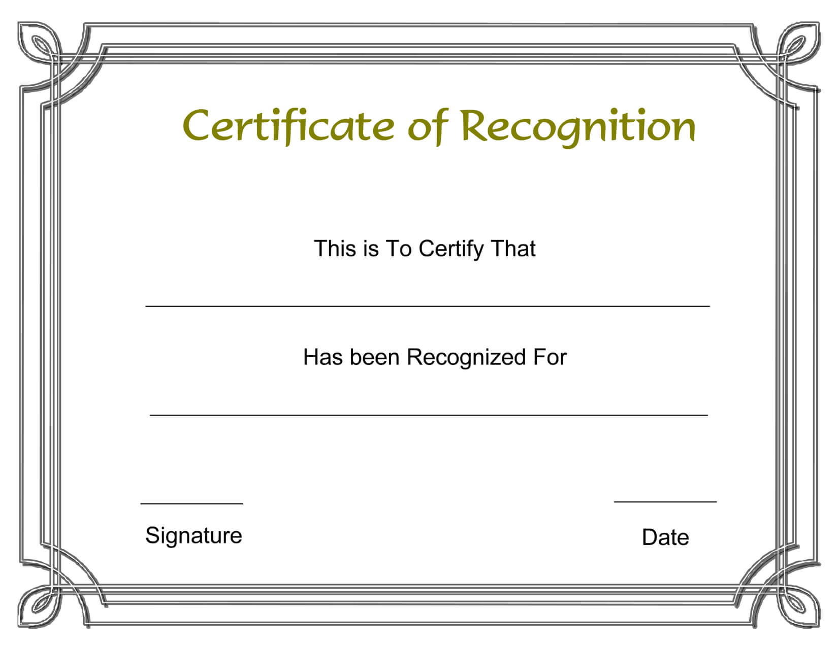 Template Free Award Certificate Templates And Employee Regarding Employee Recognition Certificates Templates Free