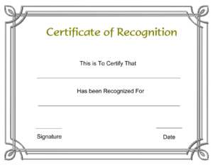 Template Free Award Certificate Templates And Employee regarding Template For Recognition Certificate
