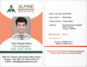 Template Galleries: Employee Id Card Templates – 2014085C in Work Id Card Template