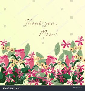 Template Greeting Card Greetings Mom Mothers Stock Vector with regard to Mom Birthday Card Template