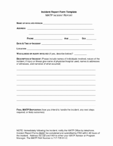 Template Incident Report Form Lovely School Incident Report intended for School Incident Report Template