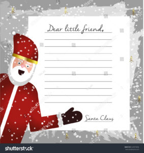 Template Letter Santa Claus Blank Your Stock Illustration in Blank Letter From Santa Template