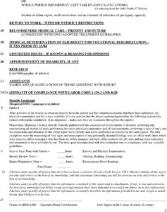 Template Medical Legal Report Workers Compensation Pdf Qme pertaining to Medical Legal Report Template