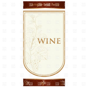Template Of Wine Label With Vine And Bunch Of Grapes Stock Vector Image in Blank Wine Label Template