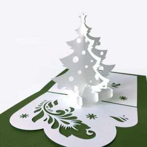 Template Popup Card «Christmas Tree» For 3D Christmas Tree throughout 3D Christmas Tree Card Template