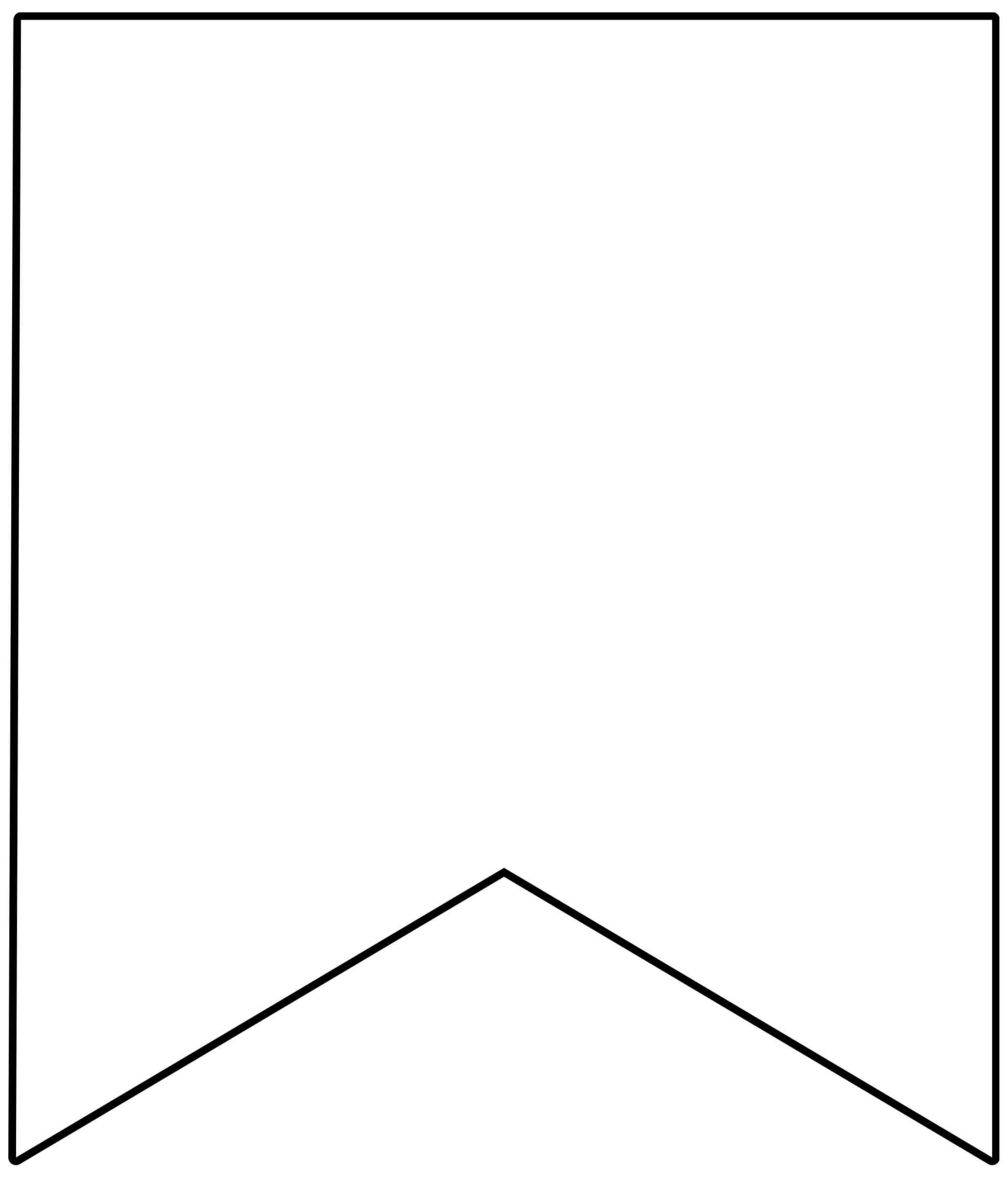 Template Printable Pennant Banner - Epp Acp | Pennant Inside Free Blank Banner Templates