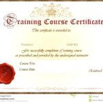 Template: Training Certificate Template Fire Extinguisher With Fire Extinguisher Certificate Template