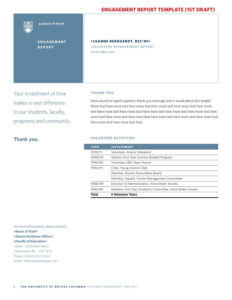 Template Volunteer Reportjeffrey Hsu – Issuu In Volunteer Report Template