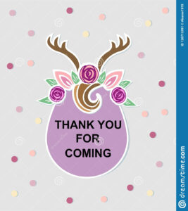 Template With Deer Headband Stock Illustration with Headband Card Template