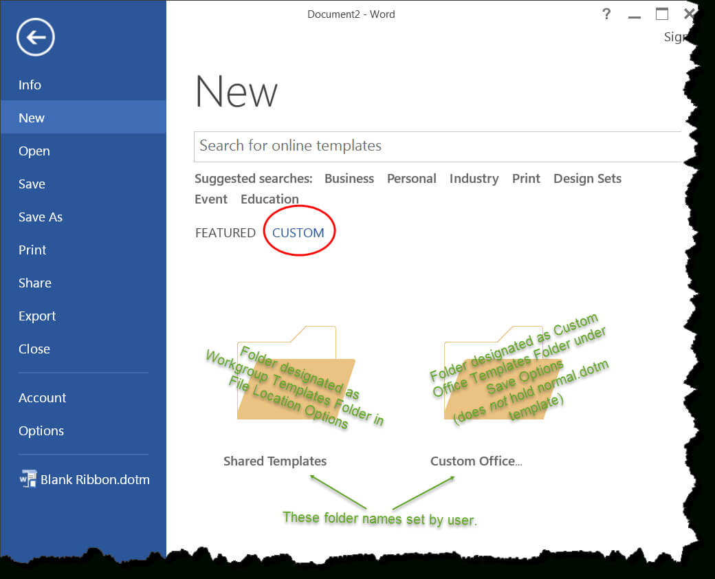 Templates In Microsoft Word - One Of The Tutorials In The Intended For Word 2010 Template Location