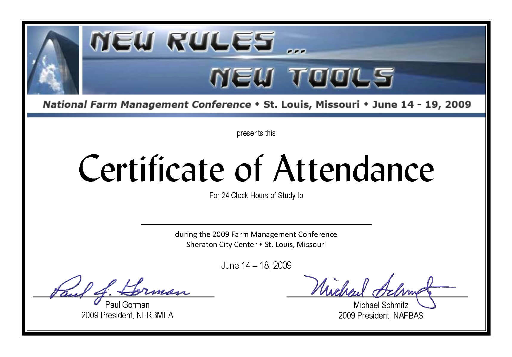 Templates Of Certificate Attendance Template Word For Regarding Conference Certificate Of Attendance Template