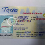 Texas Id Regarding Texas Id Card Template